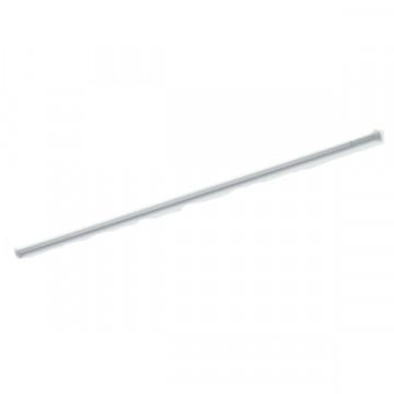 Штанга прямая для занавески в ванную комнату Baccetta белая 125-220 см