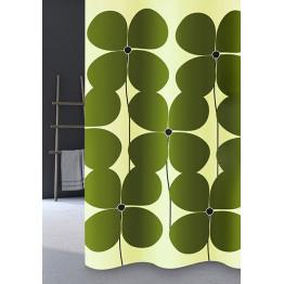 Шторка текстильная в ванную комнату Baccetta Quadrifoglio 200х180 см