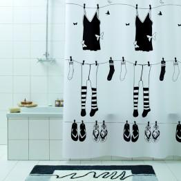 Текстильная штора для ванной комнаты Baccetta Rue de Papillion 200х180 см