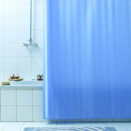 Текстильная занавеская для ванной комнаты Baccetta Rigone синяя 200х180 см