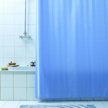 Текстильная занавеска для ванной комнаты Baccetta Rigone синяя 200х180 см