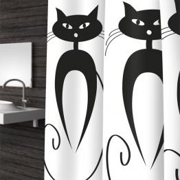 Текстильная шторка для ванной Baccetta Cats 200х180 см