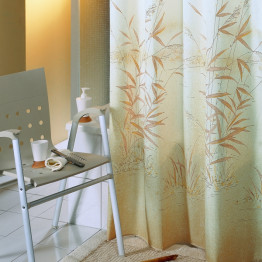 Штора для ванной текстильная угловая Baccetta Canneto Камыш 240х200 см