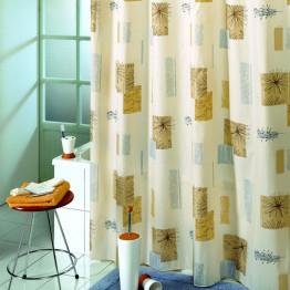 Штора для ванной текстильная Baccetta Contrasti коричневая 200х180 см