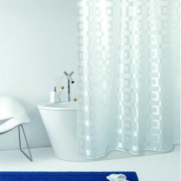 Штора для ванной текстильная Baccetta Dama белая 200х180 см