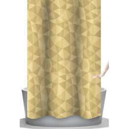 Шторка для ванной текстильная угловая Baccetta Diamante 240х200 см