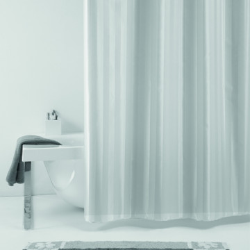 Текстильная шторка для ванной комнаты Baccetta Rigone серая 200х180 см