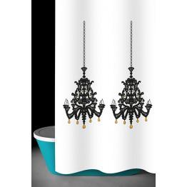 Занавеска для ванной текстильная угловая Baccetta Lamp 240х200 см