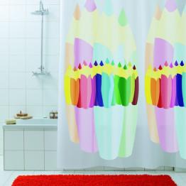 Занавеска текстильная в ванную комнату Baccetta Matita 200х180 см