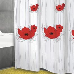 Текстильная штора для ванной комнаты Baccetta Papavero 200х180 см