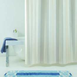 Текстильная шторка для ванной Baccetta Rigone бежевая 240х200 см