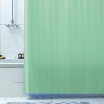Текстильная занавеска для ванной Baccetta Rigone зеленая 200х180 см
