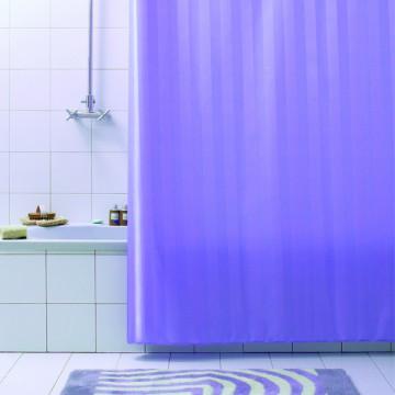 Штора текстильная для ванной комнаты Baccetta Rigone лиловая 200х180 см