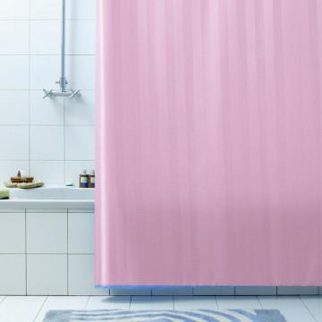 Занавеска для ванной текстильная Baccetta Rigone розовая 200х180 см