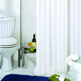 Штора для ванной текстильная Baccetta Rigone белая 200х180 см