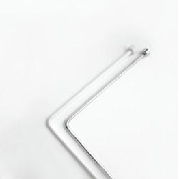 Угловая штанга для шторы в ванную Baccetta белая 170х80 см