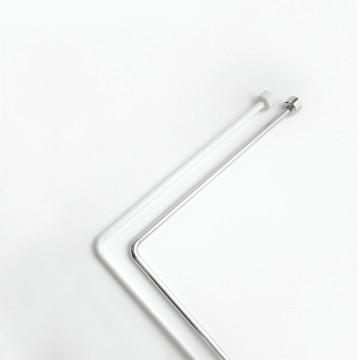 Угловой карниз для занавески в ванную Baccetta хром 170х80 см