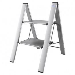 Алюминиевая лестница-стремянка с широкими ступенями Colombo Leonardo 2 Silver