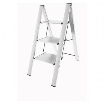 Лестница-стремянка с широкими ступеньками Colombo Leonardo 3 White