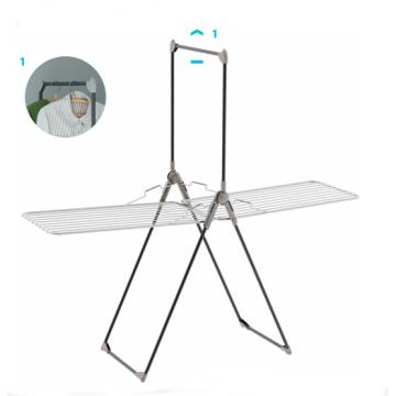 Напольная складная сушилка-трансформер для сушки белья, одежды и вещей Colombo Titano на колесах