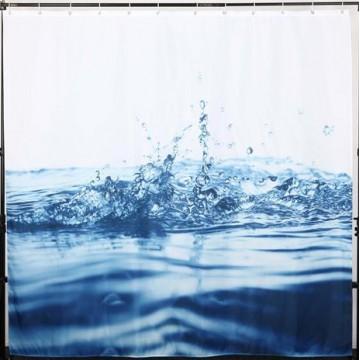 Занавеска текстильная для ванной Dasch La Vita Капли 200х180 см