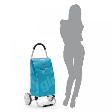 Тележка-сумка хозяйственная на больших колесах Gimi Galaxy