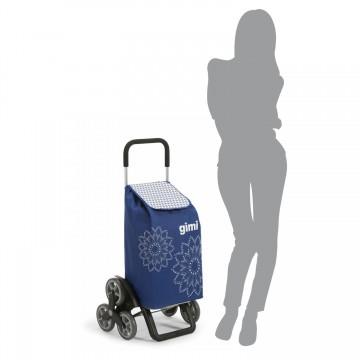 Шагающая сумка-тележка хозяйственная на 6 колесах Gimi Tris Floral