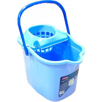 Ведро пластиковое с отжимной корзиной Hausmann Bucket 14 л