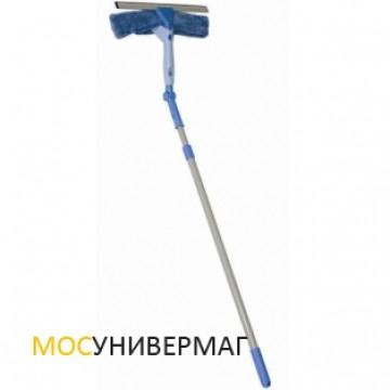 Швабра для мытья окон с водосгоном и телескопической ручкой Hausmann Flexi Wiper
