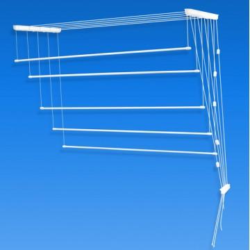 Подвесная сушилка для белья потолочная на балкон LDN Лиана Люкс 1,4 метра