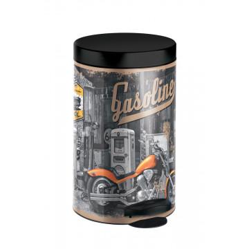 Мусорное ведро с крышкой и педалью Meliconi Gasoline 14 литров