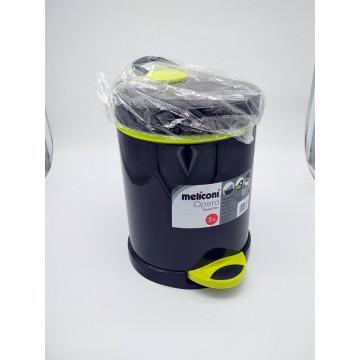 Ведро мусорное Meliconi 5 л черное/зеленое
