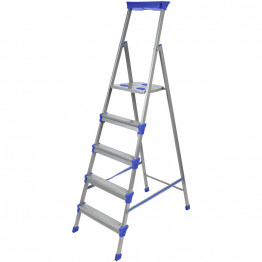 Стальная лестница-стремянка с высокой ручкой и подставкой под инструменты Ника СМ-5