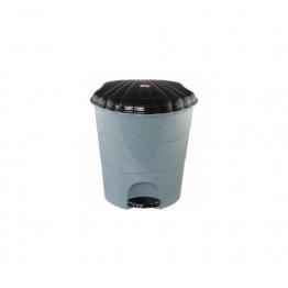 Ведро для мусора пластиковое с педалью 7 литров Виолет черное