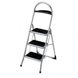 Лестница-стремянка стальная хромированная с подставкой для инструментов Scab Balzo 3
