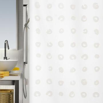Штора текстильная в ванную комнату Spirella Tokyo White 240х180 см